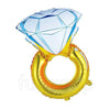 "43"" Engagement Diamond Ring Shape Foil Balloon - Funzoop"