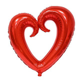 Extra Large Open Heart Shaped Foil Balloon - Red - Funzoop