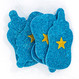 Feeding Bottle Shaped Baby Shower/Arrival Glitter Banner Hanging Decoration Blue  Pack - Funzoop