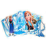 Frozen Characters Happy Birthday Wall Banner Flags - Funzoop