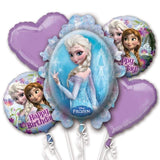 Frozen Theme 5 in 1 Foil Balloons Bouquet Set [5 Pcs] - Funzoop