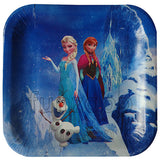 "9"" Frozen Theme Paper Food Plates - Funzoop"