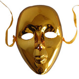 Full Face Masquerade Glitter Mask - Golden