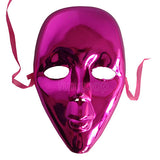 Full Face Masquerade Glitter Mask - Purple