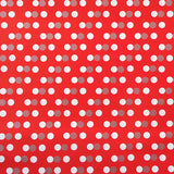 Gift Wrapping Paper Sheets White Polka - Funzoop