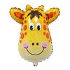 Cute Giraffe Face Shaped Jungle Theme Foil Balloon - Funzoop The Party Shop