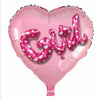 Girl Heart Multi-Balloon Supershape Foil Balloon - Funzoop The Party Shop