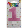 Birthday Glitter Number Cake Candle [Golden/ Silver / Pink / Blue] available in digits 0 to 9