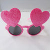 Glitter Heart Pink Party Goggles - Funzoop