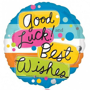 "18"" Good Luck Best Wishes Foil Balloon - Funzoop"