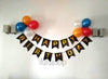 HAPPY BIRTHDAY Black Golden Letters Wall Banner Decor - Funzoop