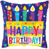 Colorful Candles Happy Birthday Foil Balloon - Funzoop