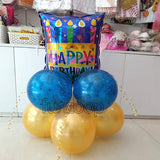 Happy Birthday Foil Centerpiece [CP04] Candles Foil - Funzoop The Psrty Shop