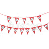 Happy Birthday Glitter Polka Banner Hung - Pink