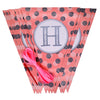 Happy Birthday Glitter Polka Banner - Pink