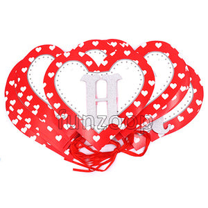 Heart Shaped Happy Birthday Printed Wall Banner - Funzoop