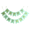 HAPPY BIRTHDAY Paper Flags Wall Banner Green - Funzoop The Party Shop