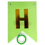 HAPPY BIRTHDAY Paper Flags Wall Banner Light Green - Funzoop The Party Shop