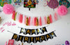 Happy Birthday Pom Pom Tassel Banner - Funzoop