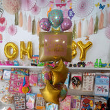 Happy Birthday Stay Fabulous 5 in 1 Foil Balloons Bouquet Set [5 Pcs] - Funzoop