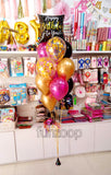 Helium Balloons Happy Birthday To You Bouquet - Funzoop