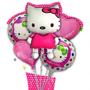 Kitty 5 in 1 Foil Balloons Bouquet Set [5 Pcs] - Funzoop