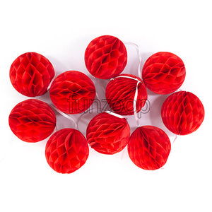 Honeycomb Balls Garland Red - Funzoop The Pasrty Shop