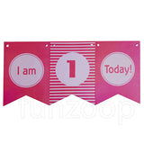 I Am One Today Wall Banner (Pink) - Funzoop