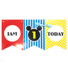 I Am One Today Wall Banner (Red) - Funzoop