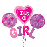 It's a Girl 4 in 1 Foil Balloons Bouquet Set [4 Pcs] - Funzoop