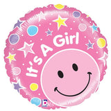 "21"" It's a Girl New Baby Girl Arrival Foil Balloon - Funzoop"