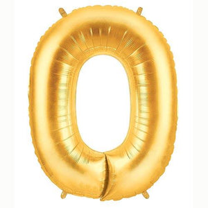 "40"" Large Foil Number Balloons- Golden (Digit 0) - Funzoop"