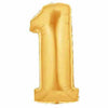 "40"" Large Foil Number Balloons- Golden (Digit 1) - Funzoop"