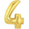 "40"" Large Foil Number Balloons- Golden (Digit 4) - Funzoop"