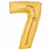 "40"" Large Foil Number Balloons- Golden (Digit 7) - Funzoop"