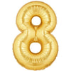 "40"" Large Foil Number Balloons- Golden (Digit 8) - Funzoop"