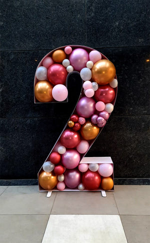 Large Balloon Mosaic - Numbers & Letters [BQF52] - Number2-multi-color