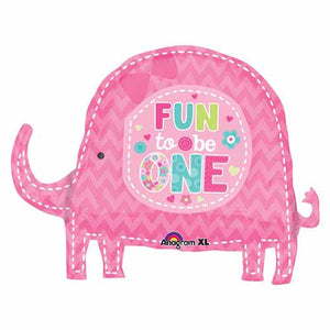 Large Elephant Fun to be One Foil Balloon