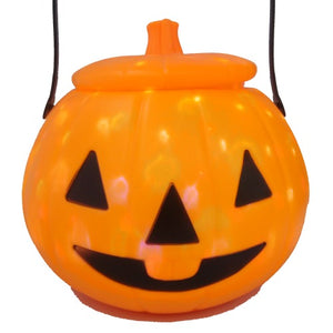 LED Musical Pumpkin Bucket for Halloween - Funzoop