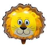 Cute Lion Face Shaped Jungle Theme Foil Balloon - Funzoop The Party Shop