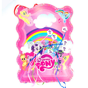 Little Pony Theme Pull String Pinata / Khoi Bag - Funzoop The Party Shop