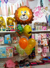 Lovable Lion Mustache Foil Balloons Helium Inflated Bouquet - Funzoop