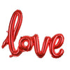 Love Script Letters Foil Balloon - Red - Funzoop