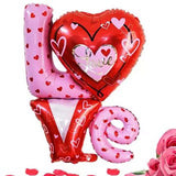 LOVE & Red Heart Foil Balloon Combo