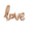 Love Script Letters Foil Balloon - Rose Gold - Funzoop