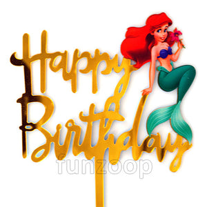 Mermaid Theme Birthday Cake Topper - Funzoop