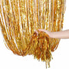 Metallic Foil Party Curtains (Golden)