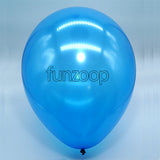 Metallic Latex Balloons Blue Funzoop - The Party Shop