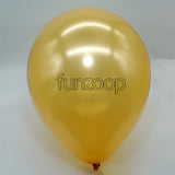 Metallic Latex Balloons Golden Funzoop - The Party Shop