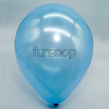 Metallic Latex Balloons Light Blue Funzoop - The Party Shop